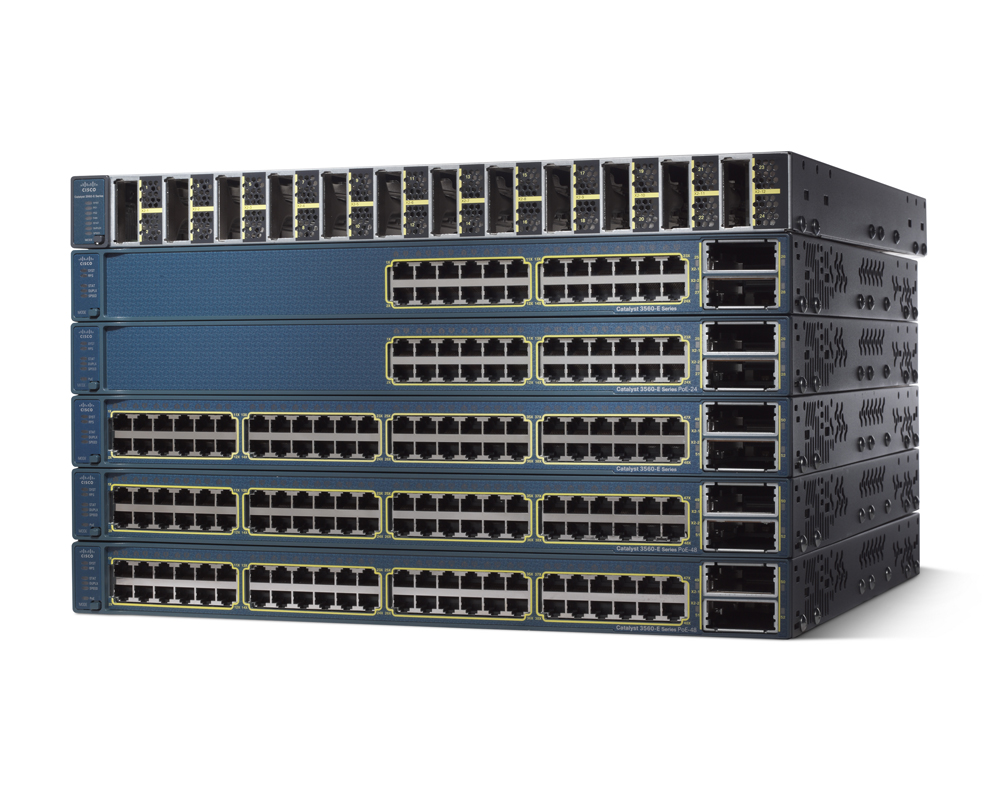 ,1150W,IPB s//w X2 USED Cisco WS-C3560E-48PD-SF 48 10//100//1000 PoE+2*10GE