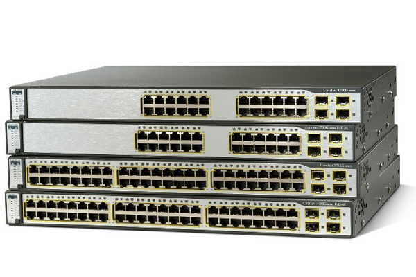 Catalyst 3750G 12 SFP + IPS Image 1RU 1Gb Layer 3 Stacking Switch